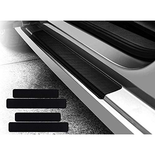 KEYIRUN [4点セット] スカッフプレート マツダ CX-5 (KF系) マツダ CX-8 (KG系) マツダ タイタン (85系) マツダ MAZDA2 (DJ系) 車種用 サイドステップカバーガード プロテクター ガード 傷つき防止 黒色 C