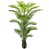 OXLLXO 6ft Artificial Areca Palm Silk Tree(72in) with 18 Trunks Faux Tree and Plastic Nursery Pot, Fake Plant for Office House Farmhouse Living Room Home Decor (Indoor/Outdoor)
