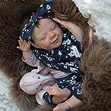Todo el Cuerpo Silicona Vinilo Suave Silicona 18 Pulgadas / 46cm renacido bebé muñeca Durmiente Realista recién Nacido Realidad bebé,Boy