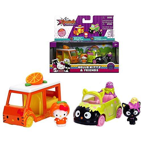 Hello Kitty Orange Truck & Chococat Ice Cream Coupe Truck Metals Diecast Twin Pack