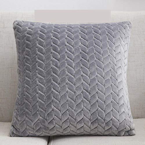 YAL Housse de coussin carrée en velours 45 x 45 cm