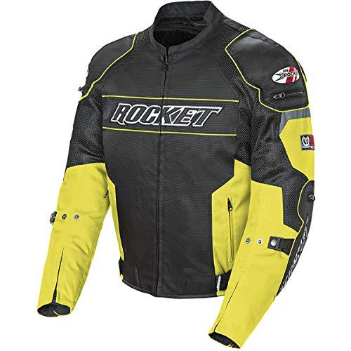 Joe Rocket Resistor Men's Mesh Motorcycle Jacket (Yellow/Black, Medium)