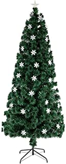 Artificial Holiday Christmas Tree 6FT Small Light Fiber Optic Christmas Tree 230 Branches Xmas Decoration for Home Office Party Decoration