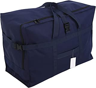 Extra Large Travel Duffel Bag 28'',120L,Anti Theft Travel Tote Luggage Bag Checked Bag Black Oversized (blue)