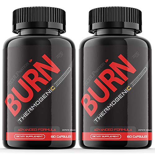 (2 Pack) Burn Sculpnation Supplement Test Boost Pills Extra Strength Pre Workout Booster PM (120 Capsules)