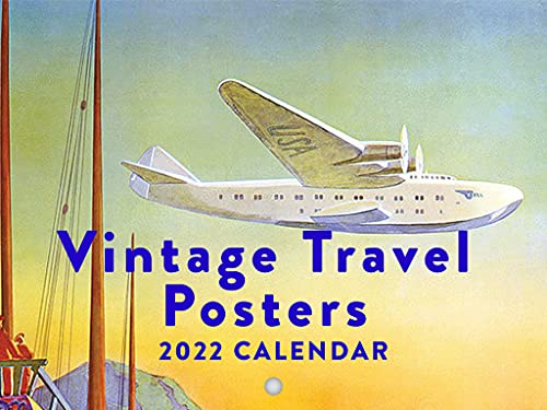 Vintage Travel Posters 2022 Wall Calendar Airplane Airways Retro World Travel Calendar Large 18 Month Calendar Monthly Full Color Thick Paper Pages Folded Ready To Hang Planner Agenda 18x12 inch