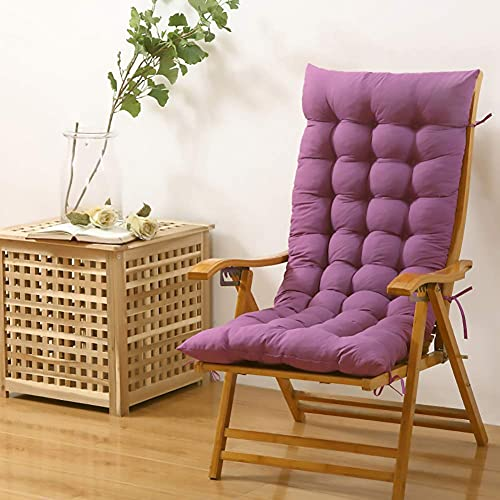 BAIHUO Cuscini per Sdraio da Giardino, Cuscino Prendisole Cuscino per Esterno da Giardino Cuscino per sedie a Sdraio Cuscino Imbottito per Sedia reclinabile con Cinghie 48x120cm(19x47inch)