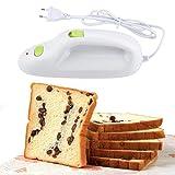Cuchillo eléctrico, cortador automático de carne de pan con hoja de acero inoxidable con interruptor doble para cocina...