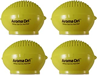 Aroma Dri 50gm Lavender Scented Silica Gel Lemon Container, Pack of 4