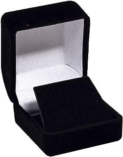 Earring Gift Box Black Velvet Flocked Jewelry Display