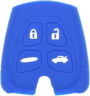 SEGADEN Silicone Cover Protector Case Skin Jacket fit for SAAB 9-3 9-5 4 Button Remote Key Fob CV2760 Deep Blue