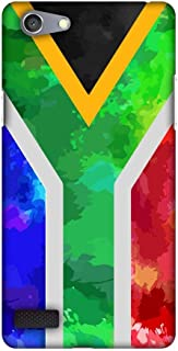 AMZER Slim Fit Handcrafted Designer Printed Snap On Hard Shell Case Back Cover for Oppo Neo 7 - South Africa Flag- Textures HD Color, Ultra Light Back Case
