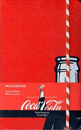 Coca-Cola(コカ・コーラ)×MOLESKINE(モレスキン) 限定版コカ・コーラノートブック ラージ横罫 コカ・コーラボトル100周年記念 ストローエディション