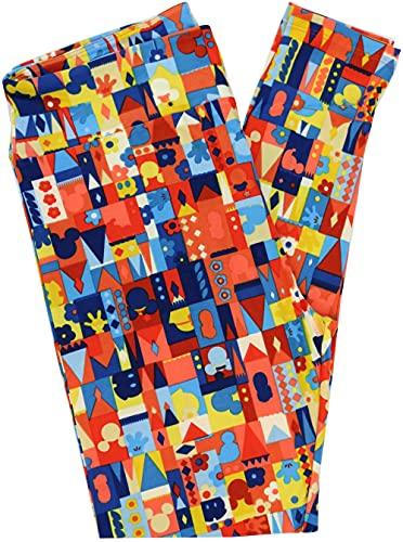 Lularoe Disney TC Leggings (Tall & Curvy) Fits Pants Size 12-18 (Castles - 0427)