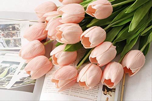 ZhenHe Künstliche Blumen Home Decor Künstliche Blumen Tulip Einzel-Zweig Gefälschte Blume künstliche Blumen-Länge 53cm (10 Stück) Dekorationen