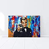 YuFeng Art Inn Movie The Wolf of Wall Street Modern Wall Poster Art Print Oil Painting on Canvas Home Decor Wall Decoration Canvas Art (Framed-Ready to Hang,24x36inch)