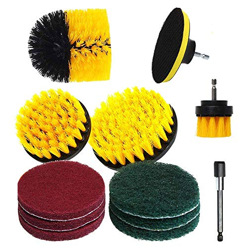 Seasaleshop borstelopzetstuk, polijstborstel voor elektrische boormachine- en elektrische reinigingsgereedschap-boorborstel schrobben pads.