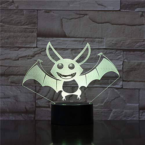 Lámpara de mesa colección regalo animal bat LED sensor de noche colgante decoración dormitorio luz de noche gabinete de bebé Año Nuevo regalo de Navidad