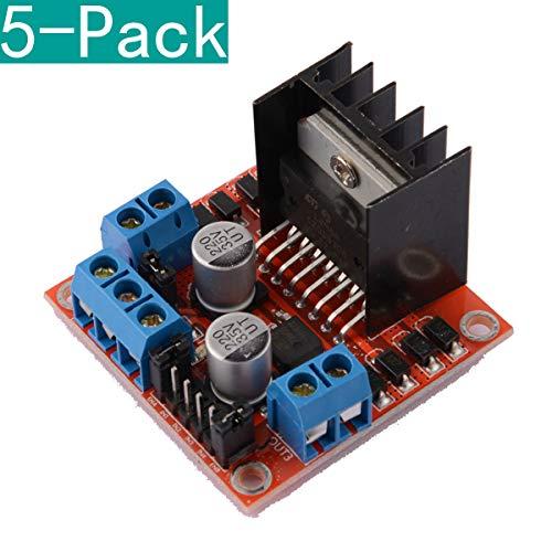 Youmile 5er-Pack Dual-H-Brücken-DC-Schrittmotorantrieb-Controller-Board-Modul L298N für Arduino