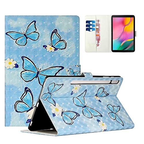 WVYMX Case for Galaxy Tab S7 Plus 12.4 T970, Cartoon Printed Slim Stand Hard Back Shell Protective Smart Cover for Samsung Galaxy Tab S7 Plus 12.4 2020 SM-T970/T975/T976/T978 Butterfly