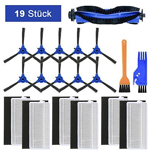 FHzytg 19 Stück Zubehör für Eufy RoboVac 11S, 12 15 30 30C 35C DEEBOT N79S N79, Ersatzteile Filter Seitenbürsten Rollbürste für Eufy RoboVac 11s, RoboVac 30, RoboVac 30C, RoboVac 15C