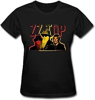 Duanfu ZZ TOP Women's Cotton Short Sleeve T-Shirt