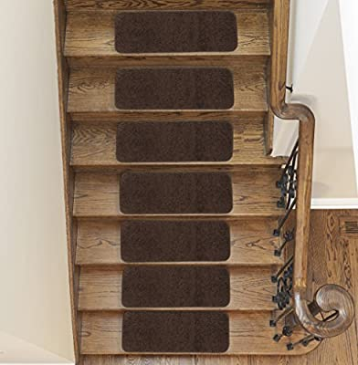 """Sweethome Stores Luxury Collection Soft Shaggy Non-Slip (9""""X26') Stair Treads Packs"""