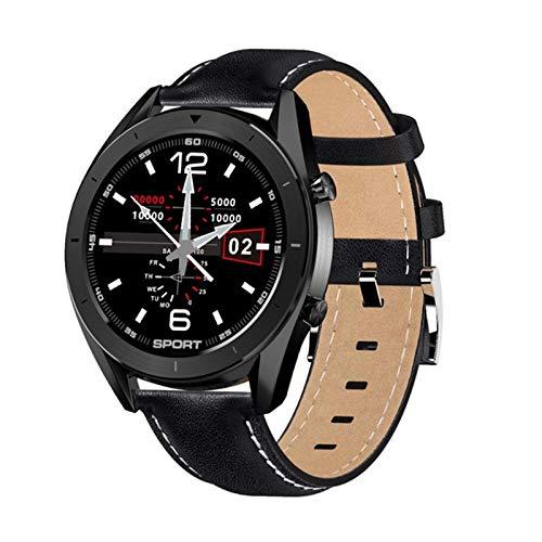 AKY Ladies Men Smart Watch DT99, Pantalla HD Impermeable Música Bluetooth Música Corazón/Detección de la presión Arterial Trucidador de Fitness para iOS Android,C