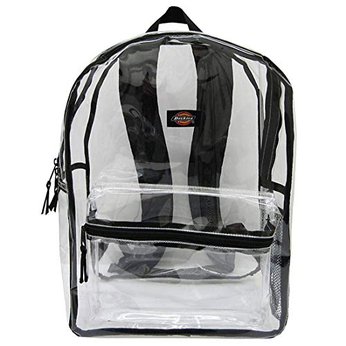 Dickies Clear PVC Laptop Backpack, Black
