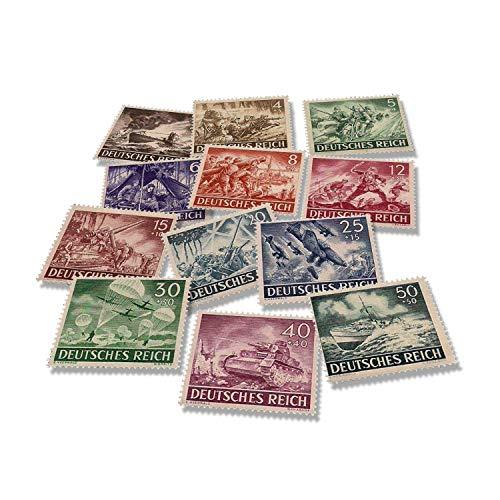 IMPACTO COLECCIONABLES Seconda Guerra Mondiale - 12 Francobolli della Wehrmacht 1943