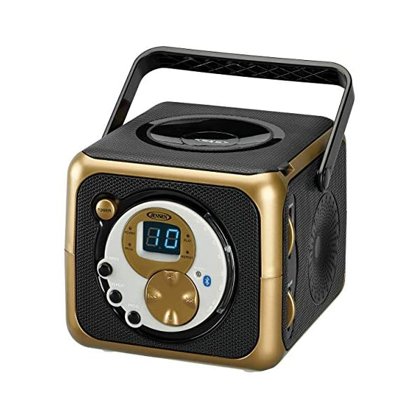 Portable Bluetooth Music System with CD Player +CD-R/RW & FM Radio with Aux-in & Headphone Jack Line-In … 3