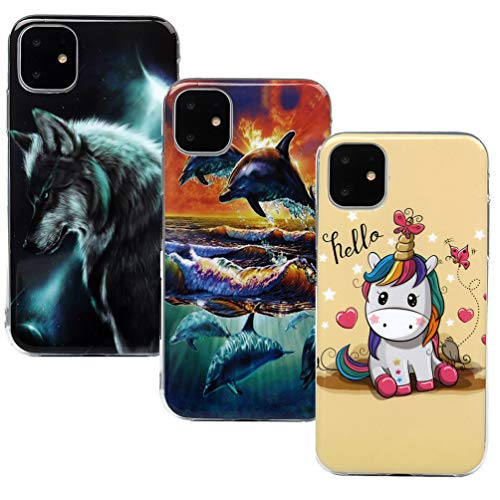 Vogu'SaNa - Funda de Silicona para teléfono móvil iPhone 6,1 Pulgadas 2019, diseño de Animales, Funda Fina para Chica, Carcasa Blanda, Funda de TPU