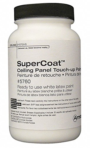Ceiling Tile Touch-up Paint, Latex, White, 8 oz.