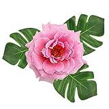 [30 Stück] Tropische Blätter, Htianc Palmenblätter Dschungel Strand Thema Party Hochzeit Dekorationen Tischdekoration - 7