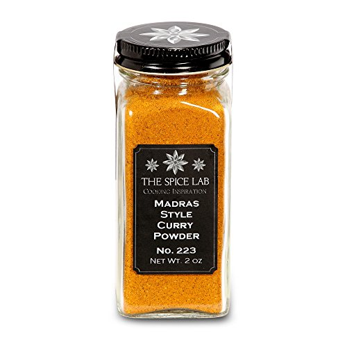 The Spice Lab No. 223 - Madras Style Curry Powder Spice - Kosher Gluten-Free Non-GMO All Natural Spice - French Jar