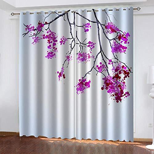 Ageeseso 3D Blackout Ösen Vorhang Gardine Verdunklungsgardine Kälte Und Wärmeisolierung Verdunklungsgardine Für Wohnzimmer Kinderzimmer Schlafzimmer Kreative rote Blume 170(W) x200(H) cm Weihnachten