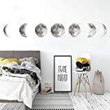 Wallpark Fase Lunar Desmontable Pegatinas de Pared Etiqueta de la Pared, Sala Dormitorio Hogar Decorativas Adhesivas DIY Arte Murales