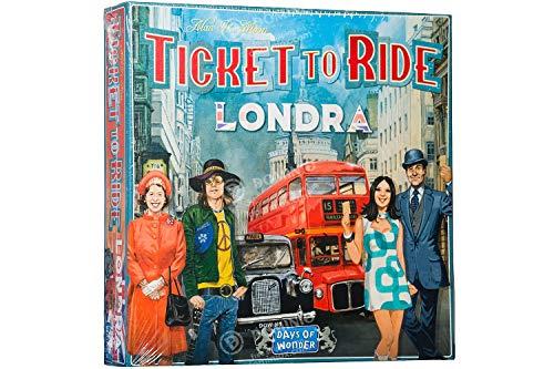 Asmodee- Ticket to Ride Londra Gioco da Tavolo Interamente in Italiano, Colore, 8514
