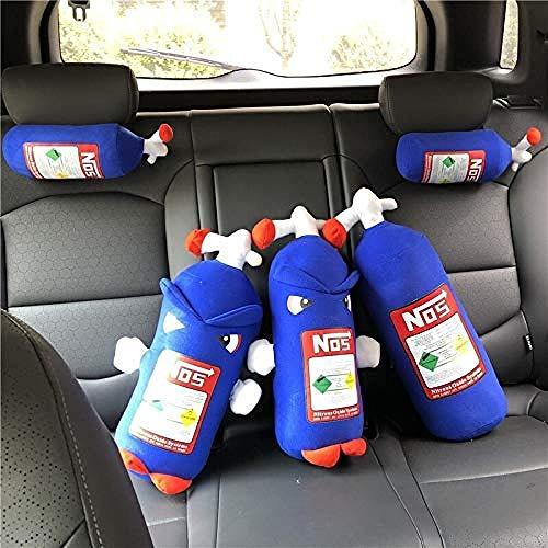 NLRHH Simulación Red Botella de nitrógeno Almohada roja para la Siesta Oficina Coche Almohada Regalo de cumpleaños Creativo Almohada Peng-Color de la Foto