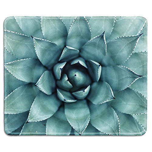 dealzEpic - Art Mousepad - Natural Rubber Mouse Pad Printed with Succulent Plant - Stitched Edges - 9.5x7.9 inches