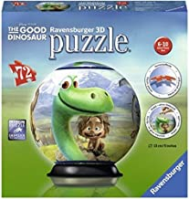 Ravensburger The Good Dinosaur 72 Piece 3D Jigsaw Puzzle Ball for Kids and Adults - Easy Click Technology Means Pieces Fit Together Perfectly