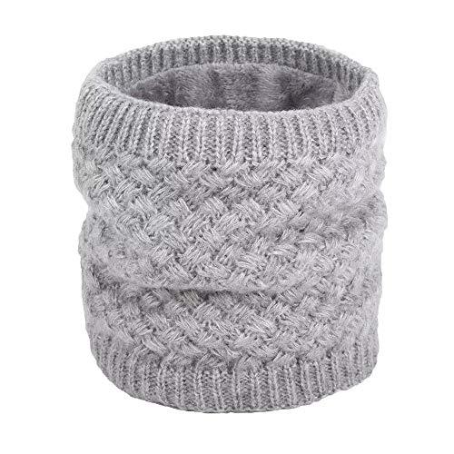 Scalda Collo Di Crochet Di Maglia Di Lana Per Invernali Con Agnello Dentro Sciarpe Morbido E Caldo Unisex Per Donne E Uomo (Grigio)
