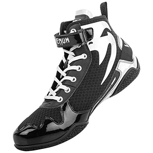 Venum Giant Low, Boxing Shoe Unisex-Adult, Negro/Blanco, 40.5 EU