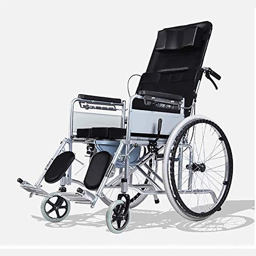 HECHEN Leichtgewichtiger Rollstuhl mit Selbstantrieb für ältere Menschen, Behinderte, tragbare Rollstühle mit vollständiger Liegefunktion für die Unabhängigkeit oder die Bequemlichkeit des Betreuers