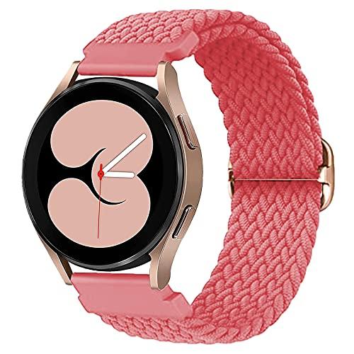 Harikiri Correa trenzada de 20 mm compatible con Samsung Galaxy Watch 4 44 mm/40 mm,Galaxy Watch 3 41 mm/42mm,pulsera elástica deportiva con hebilla ajustable para Active 2/Active/Gear S2 Classic/Gear