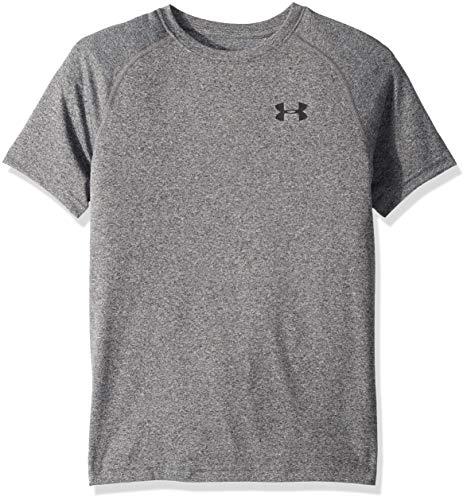Under Armour Jungen Tech T-Shirt, Black Light Heather, YXS