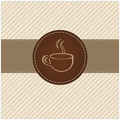 Wallario Magnet für Kühlschrank/Geschirrspüler, magnetisch haftende Folie - 60 x 60 cm, Motiv: Kaffee-Menü - Logo Symbol für Kaffee