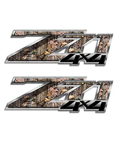 Camo Silverado 4x4 Decal Set Z71 Hunting Timber Graphic