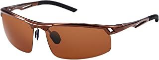 Duco Men's Polarized Sunglasses for Men Sports Driving Cycling Running Fishing Golf Unbreakable Frame Metal Driver Sunglasses 8550