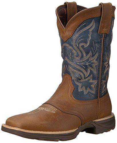 Durango Women's DRD0183 Western Boot, tan Blue Denim, 11 M US
